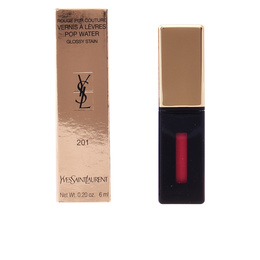 ROUGE PUR COUTURE POP WATER glossy stain #201-dewy red 6 ml de Yves Saint Laurent
