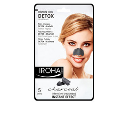 DETOX CHARCOAL BLACK nose strips 5 uds de Iroha