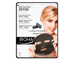 DETOX CHARCOAL BLACK tissue facial mask 1use de Iroha