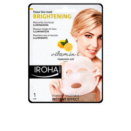 TISSUE FACE MASK brightening vitamin C + HA 1 use de Iroha