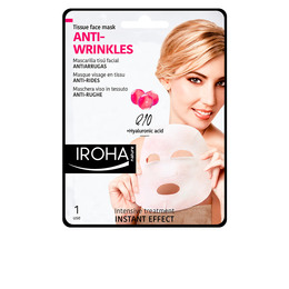 TISSUE FACE MASK antiwrinkles Q10 + HA 1 use de Iroha