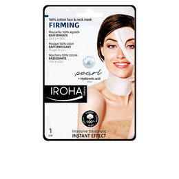 100% COTTON FACE & NECK MASK pearl-firming 1 use de Iroha