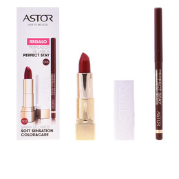 SOFT SENSATION #502-tender cherry + lip liner de Astor