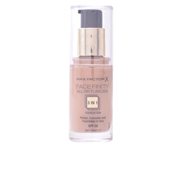 FACEFINITY 3IN1 primer, concealer & foundation #77-softhoney de Max Factor