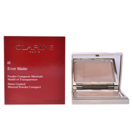 EVER MATTE poudre compacte #02-transparent medium 10 gr de Clarins