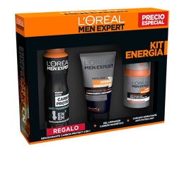 MEN EXPERT HYDRA ENERGETIC LOTE ENERGIA 3 pz de L`Oreal Make Up