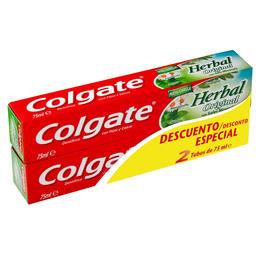 HERBAL ORIGINAL PASTA DENTIFRICA LOTE 2 pz de Colgate